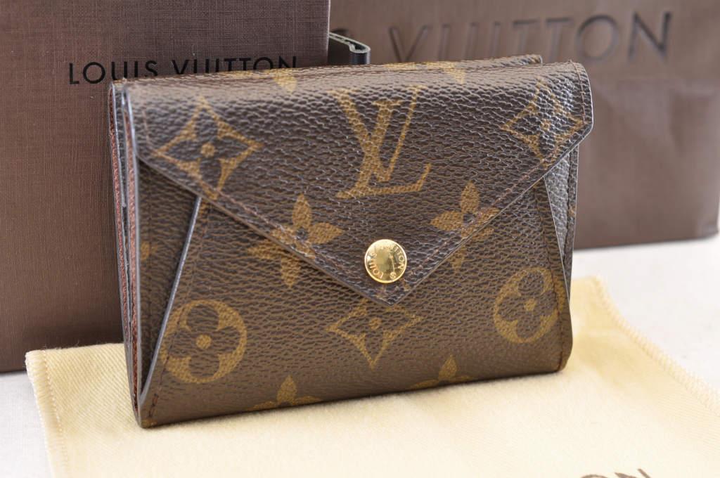 Louis Vuitton Monogram Portefeuille Origami Compact Bifold Wallet Lv Auth 3602