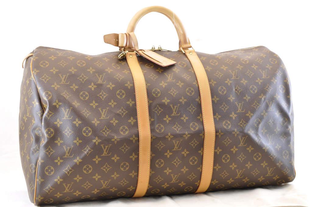 fe9e9608f8f LOUIS VUITTON Monogram Keepall 60 Boston Bag M41422 LV Auth 3844
