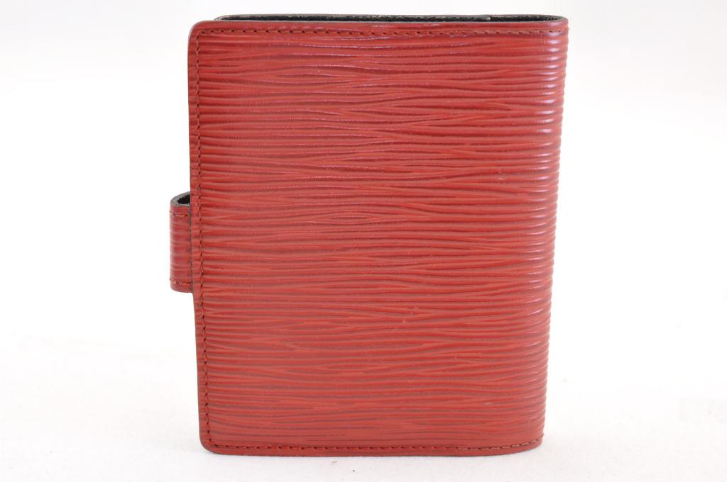 48947f9985bf7 LOUIS VUITTON Epi Agenda Mini Day Planner Cover Red LV Auth 3865